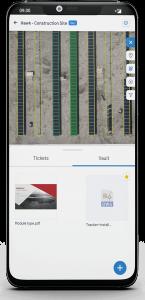 Upload files from mobile or desktop