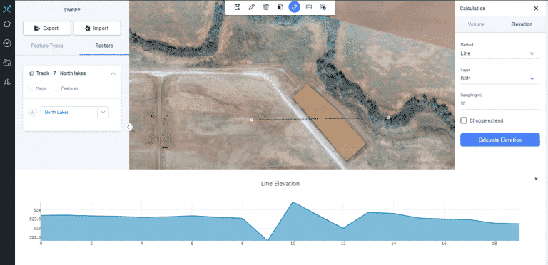 topography for terrain analysis including hydrology leveling grading